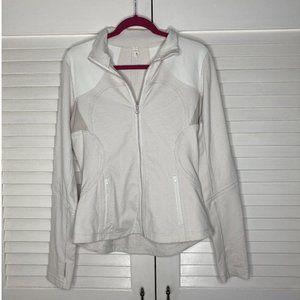 NICE Lululemon White Gingham Forme Jacket Size 10